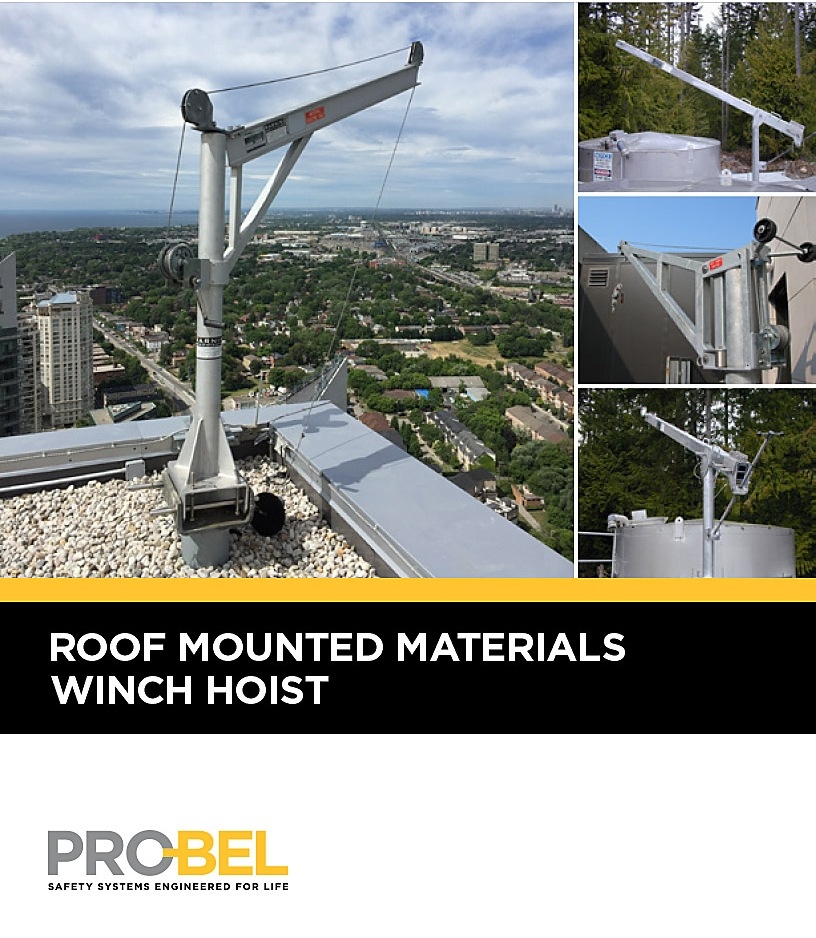 Roof-Mounted Materials Winch-Hoist