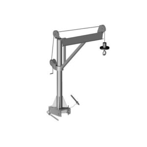 Material Hoisting Arm - Manual - 350lbs Capacity